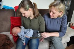 Staszek kruszynka z Ciocią i z Babcią