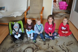 Staszek, Asia, Antek, Natalia, Maja
