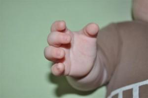 Mała rączka mojego Staszka z zespołem Downa :*