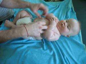 Staszek-fistaszek - masaż Shantala - zespół Downa - rehabilitacja - 7 miesięcy - Down syndrome