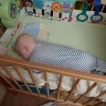 Spanie na brzuszku jest wygodne :)