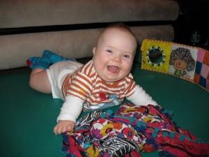 Staszek-fistaszek - zespół Downa - 8 miesięcy