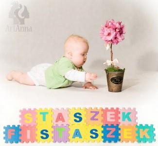 Staszek - Fistaszek i kwiat :) Sesja zdjęciowa w ArtAnna
