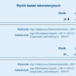 lipidogram - TSH - tarczyca - hormon - zespół Downa - 9 miesięcy