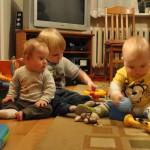 Chłopaki się bawią - Mateuszek, Antek i ja