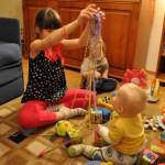 Zabawa z Kasią - siostrą Mateuszka