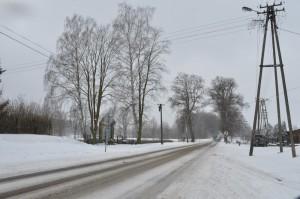 Znów zimowa droga do Skarszew...