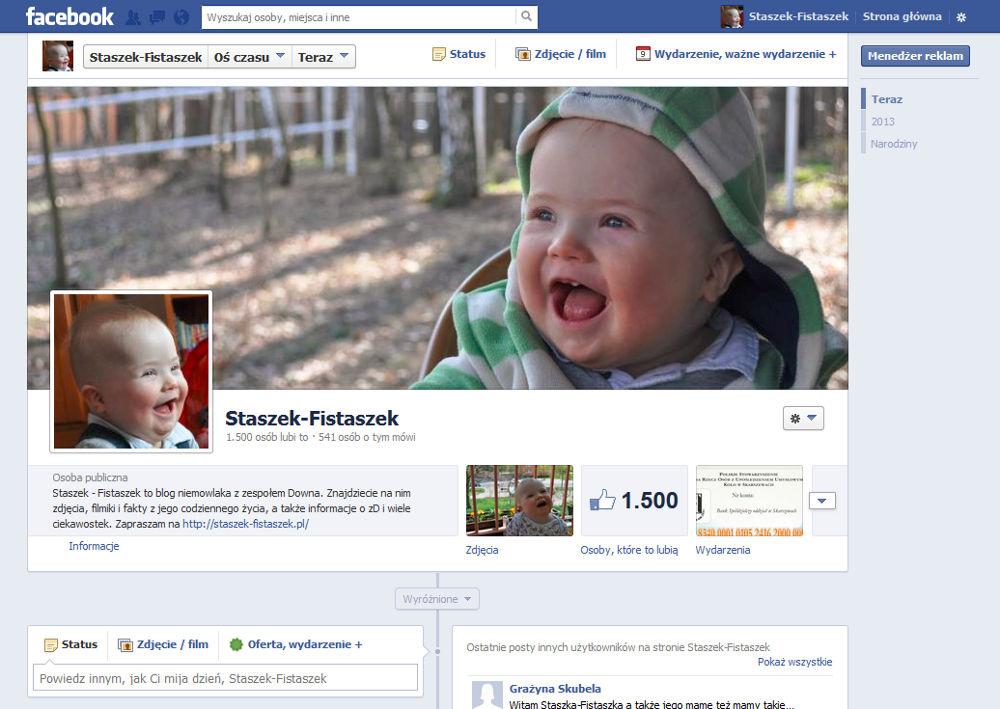 1500 fanów na facebooku: https://www.facebook.com/stronastaszkafistaszka