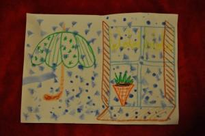 To ja namalowałem ten piękny deszczyk :)
