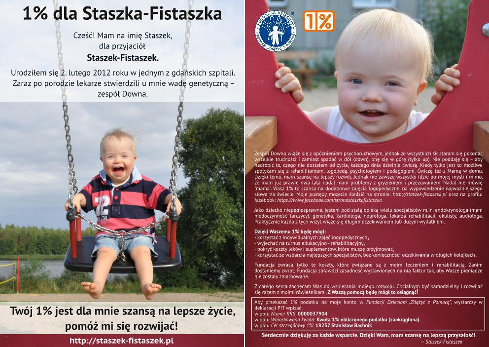 ulotka 1% Staszek-Fistaszek 2014