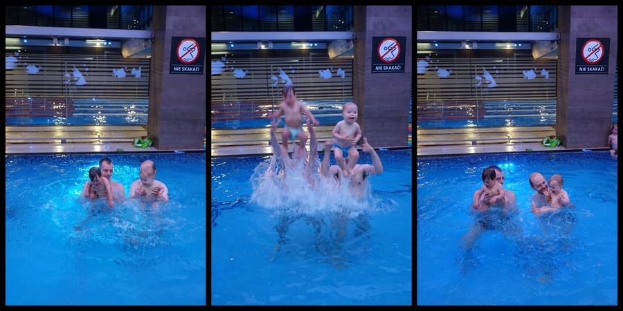 Skoki do wody - Szymek i ja