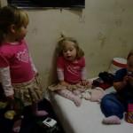 ...i dziewczyny - Pola, Lena i Amelka.