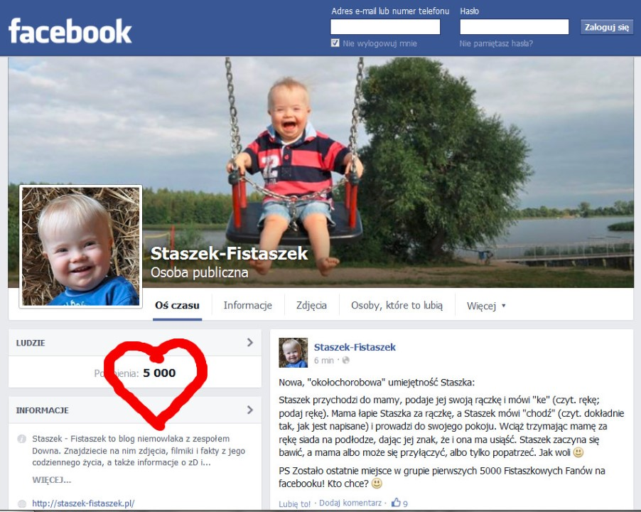5000 fanów na fb