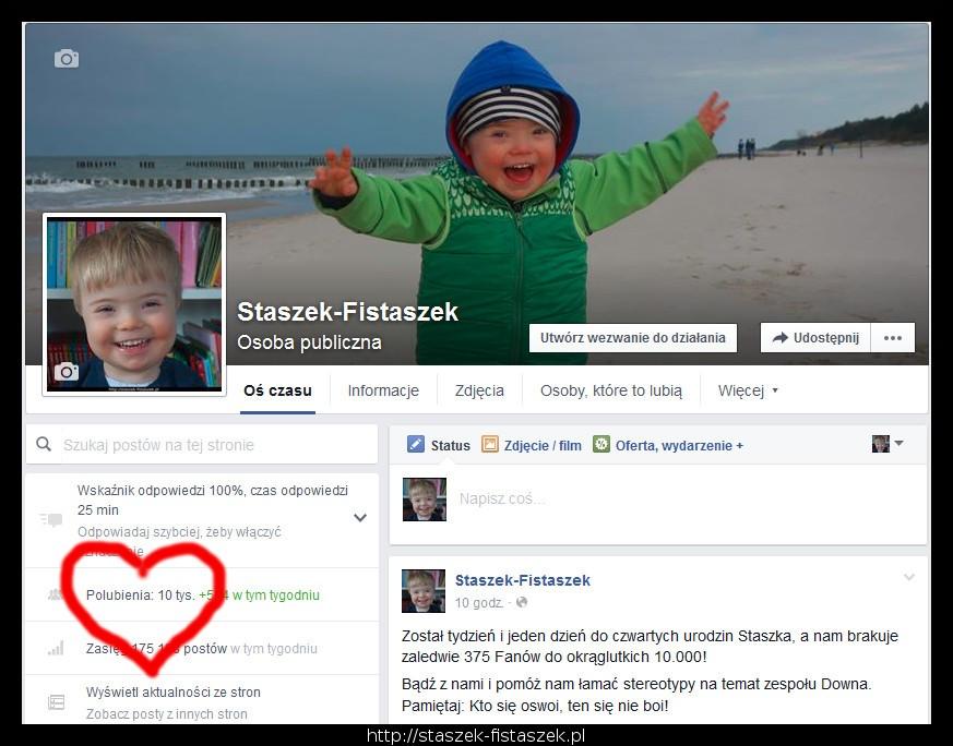 10000 fanów na facebooku