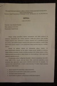 Opinia z PSOUU Skarszewy