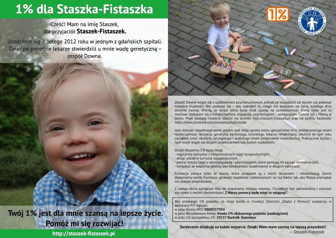 1% 1 procent Staszek-Fistaszek